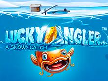 Lucky Angler: A Snowy Catch